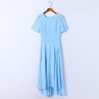 sandalling显瘦立体刺绣连衣裙9516