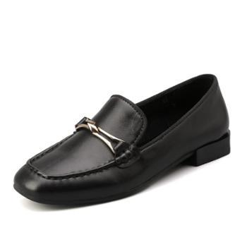上匠风华头层牛皮女子单鞋28160-1