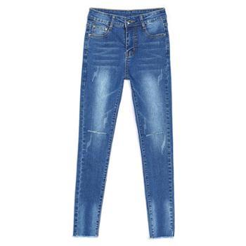 sandalling裤破洞紧身显瘦百搭铅笔长裤子1628