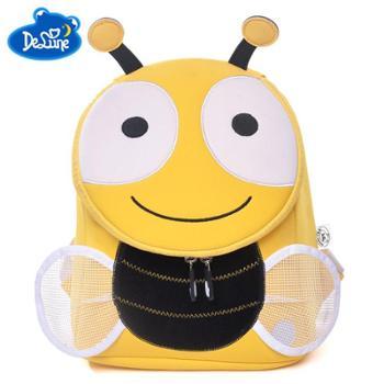 Delune3-6岁幼儿园防走丢双肩小书包 儿童可爱小书包