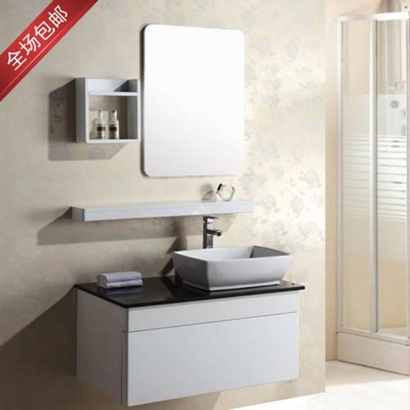 浴室柜pvc卫浴吊柜小卫生间洗手台洗脸面盆组合台上