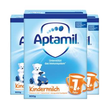 【3件装】德国爱他美(Aptamil)婴幼儿奶粉1+段(适合1岁以上)600克/件