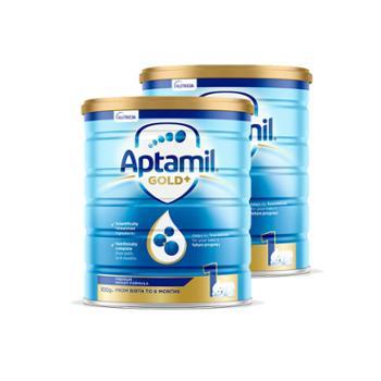 Aptamil【2件装】澳洲爱他美婴幼儿奶粉金装1段900克/罐