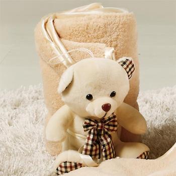 金丝莉 可爱抱抱熊小毯子 70x100cm
