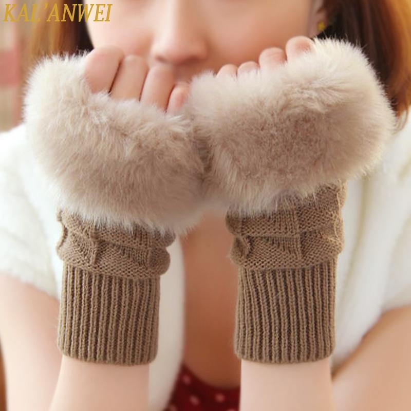 手套女冬可爱女士手套韩版冬季保暖手臂套