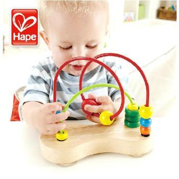 hape泡泡乐婴儿幼儿玩具儿童益智串珠绕珠1-3岁宝宝智力玩具礼物