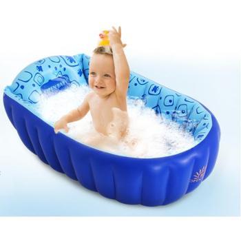 欧培婴儿浴盆宝宝洗澡盆可折叠儿童大号加厚新生儿宝宝充气浴盆