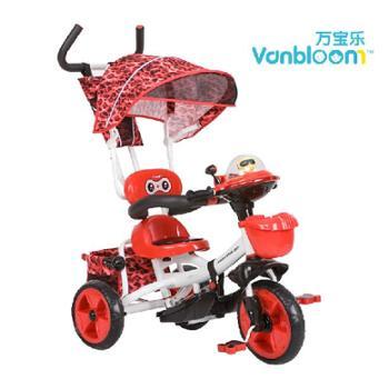 万宝乐儿童三轮车脚踏车1-2-3岁 自行车宝宝车童车手推车小孩单车