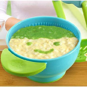美国NUK freshfoods手动宝宝食物研磨碗婴儿辅食工具研磨器碾磨碗