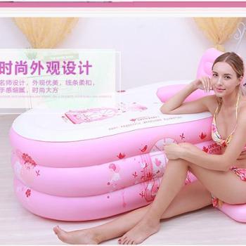 家用式充气浴缸成人浴盆塑料小孩婴儿童洗澡盆超小号。大号泡澡沐浴桶