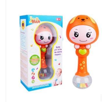 节奏音乐棒婴儿玩具宝宝声光摇铃沙锤0-1-3岁一件