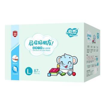 爽然屁屁好朋友超薄干爽纸尿裤L87片 婴儿尿不湿日用宝宝纸尿布湿