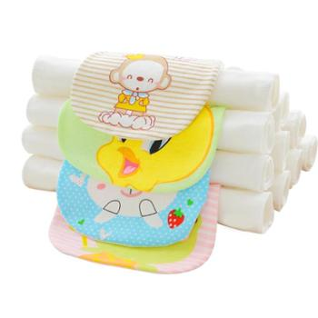 吸汗巾儿童纯棉幼儿园宝宝隔汗巾0-1-3-4-6岁加大全棉婴儿垫背巾