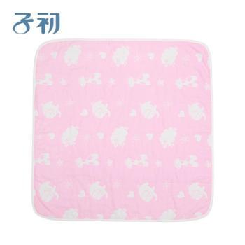 子初婴儿毛毯春夏宝宝小毛毯新生儿包巾纯棉儿童毯薄款棉纱盖毯 一件套