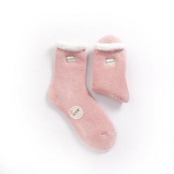精典泰迪加厚月子袜子女冬季加绒女士保暖袜毛线毛圈女袜孕妇产后