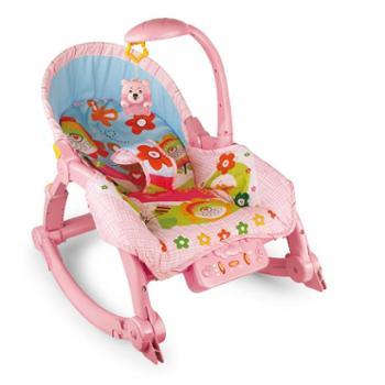 灯光音乐母婴幼儿看护躺椅 哄娃神器 自动安抚声控游戏宝宝摇椅