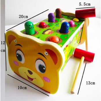 大号木制质打地鼠玩具幼儿益智儿童男女孩宝宝开发智力3-6-7周岁