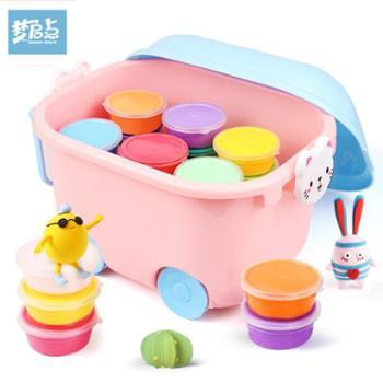超轻粘土36色儿童安全无毒橡皮泥彩泥女孩太空泥黏土玩具套装