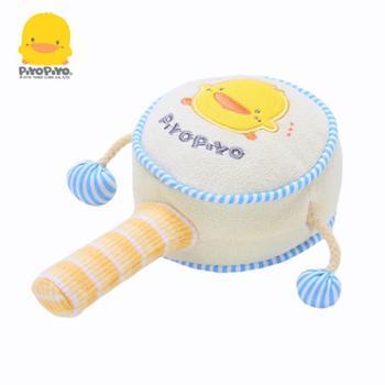 黄色小鸭婴儿拨浪鼓毛绒手摇铃宝宝益智摇鼓0-1岁波浪鼓儿童玩具