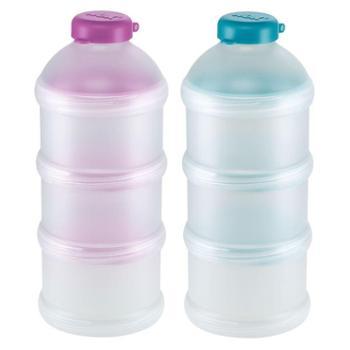 NUK奶粉定量储存盒三层分格奶粉盒外出便携式辅食存储分装盒