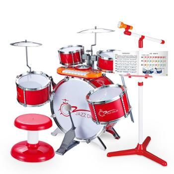 宝丽儿童架子鼓爵士鼓初学者玩具1-3-6岁宝宝敲打乐器男女孩