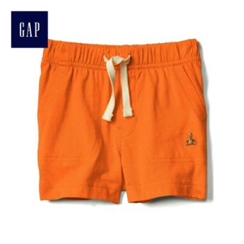 Gap婴儿布莱纳小熊刺绣纯棉短裤多选色运动裤629257男婴女婴
