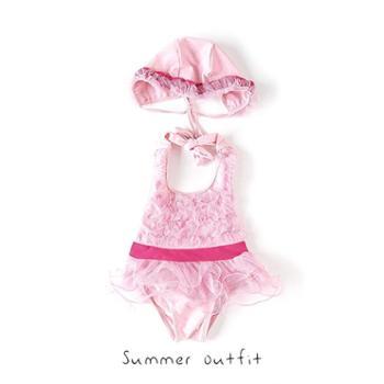 女宝宝泳衣连体裙式小孩0-1-3岁4ins婴幼儿2公主韩国可爱婴童女童