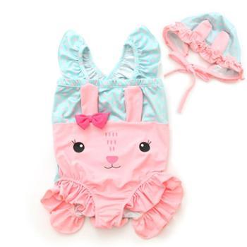 MANDYLU STORY女童泳衣小童宝宝泳衣婴幼儿可爱女连体小孩1-3岁婴儿泳衣女6个月