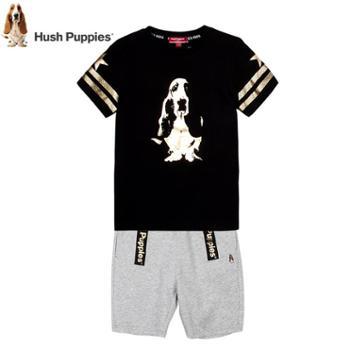 暇步士童装男童套装 夏装儿童短袖短裤套装男大童5分短裤男孩套装