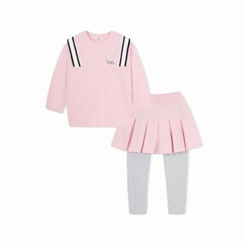 巴拉巴拉童装女童卫衣套装中大童春秋儿童学院风两件套洋气套装裙