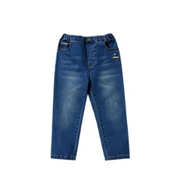 Annil/安奈儿儿童装男童牛仔长裤子弹力莱卡春夏装新款百搭直筒休闲裤