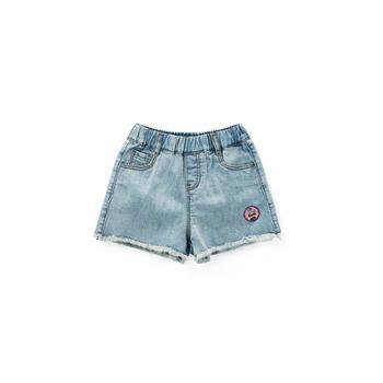 MQD童装女童牛仔短裤百搭夏装新款儿童破洞毛边中大童