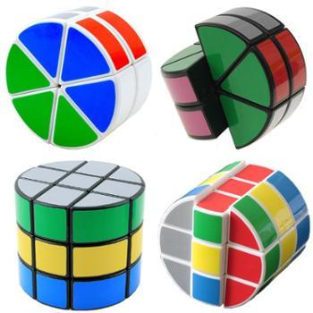 点盛圆柱魔方两三层圆饼圆柱飞碟结构异形三阶魔方儿童玩具