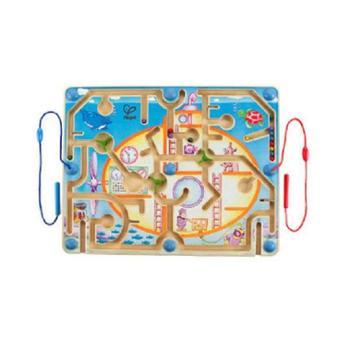 Hape迷宫益智玩具走珠 磁性磁力磁铁运笔立体 儿童宝宝潜艇迷宫