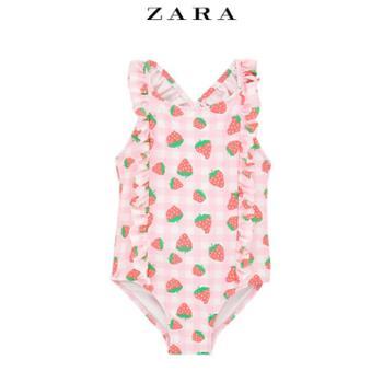 ZARA 春装新款 婴儿幼童 草莓泳衣 03339569620