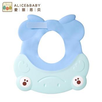 婴儿洗澡帽宝宝洗头帽护耳防水儿童浴帽小孩硅胶洗发帽加大可调节