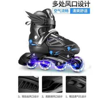小霸龙溜冰鞋成人成年旱冰轮滑鞋儿童全套装专业男女初学者滑冰鞋