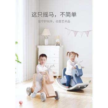 BeiE/贝易 宝宝摇摇马塑料儿童摇马发光小木马音乐婴儿玩具
