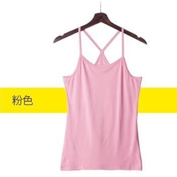 莫代尔 美背吊带网红爆款交叉外穿打底韩版性感内搭防走光夏季上衣女