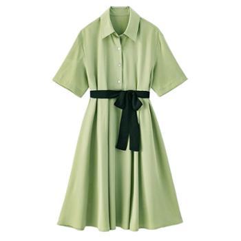 哺乳衣服夏季外出时尚产后雪纺喂奶裙收腰显瘦衬衫裙哺乳连衣裙夏