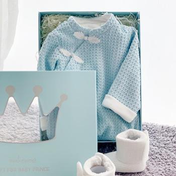 modomoma 婴儿礼盒春季满月送礼宝宝百天新生儿用品衣服棉线唐装中国风礼物