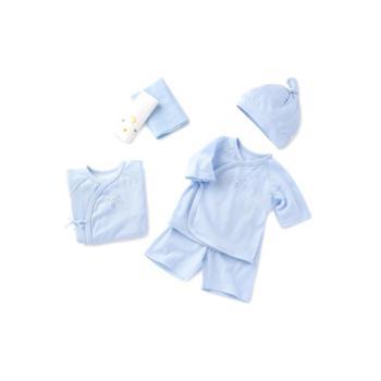巴拉巴拉 新生婴儿用品必备初生男女童宝宝衣服礼盒六件套