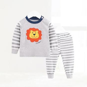 CICIIBEAR/齐齐熊 新款男女宝宝秋季卡通内衣套装婴幼儿纯棉长袖睡衣两件套