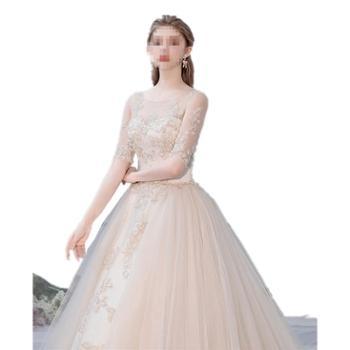 BORUIDIA/波瑞蒂亚婚纱新款新娘森系奢华拖尾梦幻超仙礼服法式