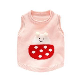 BORBOON/波步女宝宝马甲秋装针织背心婴儿毛衣手工编织儿童棉婴幼儿坎肩