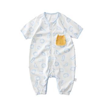 wellber/威尔贝鲁 新生婴儿睡袋夏季薄款儿童分腿防踢被子