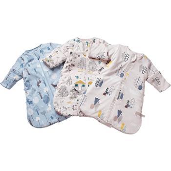 cottontown/棉花堂 婴儿针织一体睡袋宝宝防踢被防惊跳可脱卸内胆