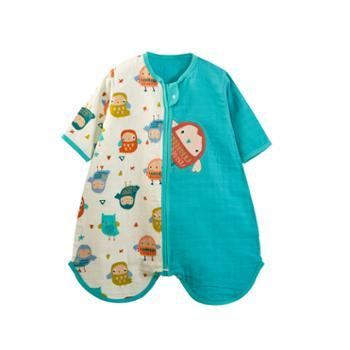 呼西贝宝宝两用睡袋孩子纱布防踢被夏