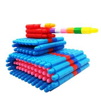 贝秀 儿童智慧磨盘立体组合拼图拼插板幼儿园六角蘑菇钉启蒙益智力玩具