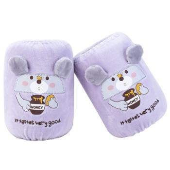 猪爸爸 女童秋冬婴幼儿袖套可爱护袖卡通3双装